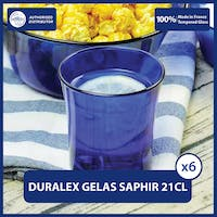 Duralex Saphir Tumbler 210mL - Set of 6 - Tempered Glass