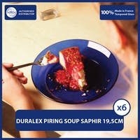 Duralex Piring Makan Soup 19.5cm ( Tempered Glass ) - Set of 6