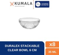 Duralex Mangkok Sambel 6cm - Tempered Glass Set of 8
