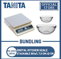 Tanita Timbangan Dapur Digital KD-200.5 + Stackable bowl 12 cm+7,5 cm
