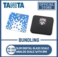 Tanita Bundling Timbangan Badan Digital HD-380 BL + Analog BMI HA-552