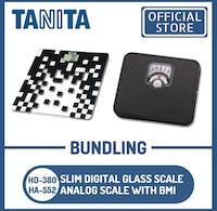 Tanita Bundling Timbangan Badan Digital HD-380 BK + Analog BMI HA-552