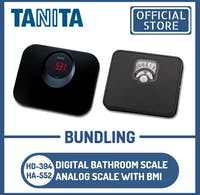 Tanita Bundling Timbangan Badan Digital HD-394 BK + HA-552 Analog BMI