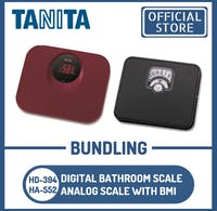 Tanita Bundling Timbangan Badan Digital HD-394 RD + HA-552 Analog BMI