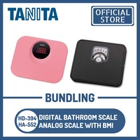 Tanita Bundling Timbangan Badan Digital HD-394 PK + HA-552 Analog BMI