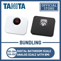 Tanita Bundling Timbangan Badan Digital HD-394 WH + HA-552 Analog BMI