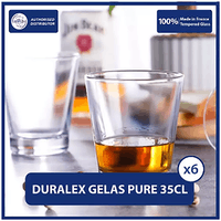 Duralex Gelas Minum Pure 350ml - 12 3/8 oz (Tempered Glass) - Isi 6pcs