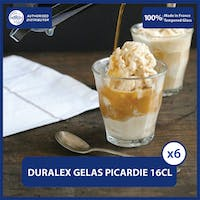 Duralex Gelas Coffee Picardie Clear Tumbler 160ml / 5 5/8oz (Tempered Glass) - isi 6pcs