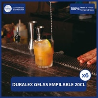 Duralex Gelas Minum Empilable Clear Tumbler 200ml / 7oz (Tempered Glass) - isi 6 pcs
