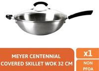 Meyer Centennial Covered Skillet Wok 32cm - Wajan Cina