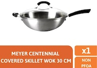 Meyer Centennial Stainless Steel Covered Stirfry 30cm - Wajan