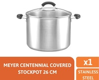 Meyer Centennial Stainless Steel Covered Stockpot 26cm/11.4L - Panci