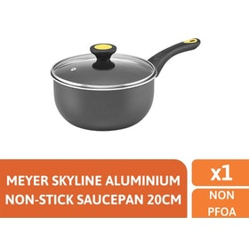 Meyer Skyline Alumunium Non-Stick Covered Saucepan 20cm - Panci