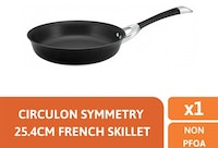 Meyer Circulon Symmetry Open French Skillet 25.4cm / 10'' - Wajan