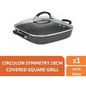 Meyer Circulon Symmetry 28cm Covered Square Grill - Wajan Bakaran