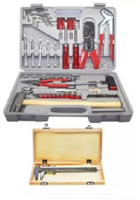 Kenmaster Tool kit 100pcs N2 Grey dan Sigmat 6in Box Kayu