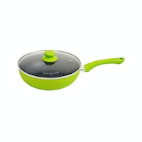 Kangaroo KG-919 Deep Frypan 24cm + Tutup Kaca Free 3pcs Nose Up Bridge