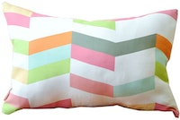 KAWUNG LIVING Chevron Pink Shade Cushion 50cmx30cm (Insert+Cover)