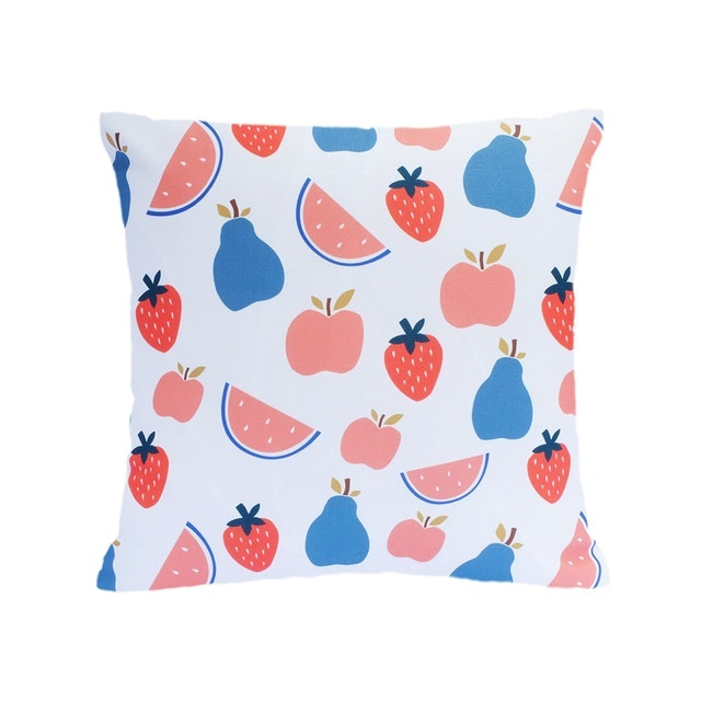 KAWUNG LIVING Fruit Juice Canvas Linen Cushion 40cmx40cm (Cover Only)