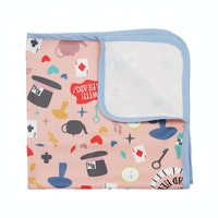 KAWUNG LIVING Tea Party - Pink Stroller Baby Blanket