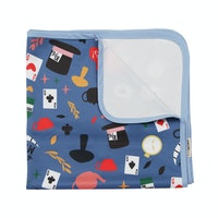 KAWUNG LIVING Tea Party - Blue Stroller Baby Blanket