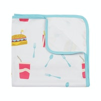 KAWUNG LIVING Fast Food Nation Stroller Baby Blanket