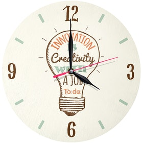 Kayugraphy Jam Dinding Wall Clock Innovation Is Creativity 30x30 cm JB008