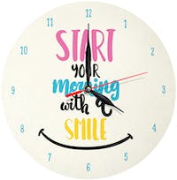 Kayugraphy Jam Dinding Wall Clock Morning With a Smile 30x30 cm JB014