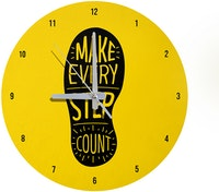 Kayugraphy Jam Dinding Wall Clock Every Step 30x30 cm JB021