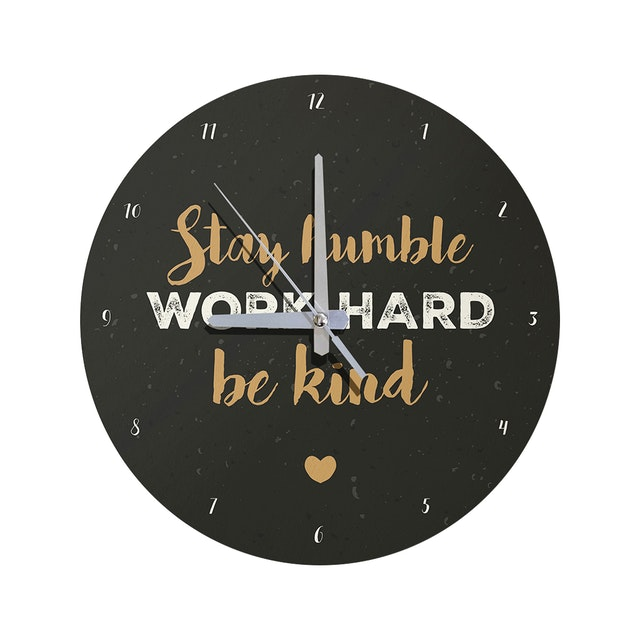 Kayugraphy Jam Dinding Wall Clock Work Hard 30x30 cm JB050