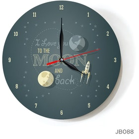 Kayugraphy Jam Dinding Wall Clock Love You 30x30 cm JB088