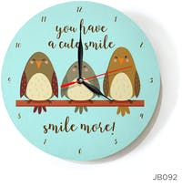 Kayugraphy Jam Dinding Wall Clock Smile More 30x30 cm JB092