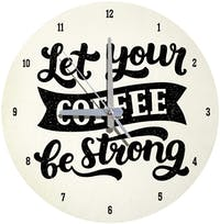 Kayugraphy Jam Dinding Wall Clock Coffee 30x30 cm JB133