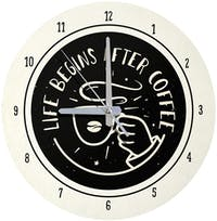 Kayugraphy Jam Dinding Wall Clock After Coffee 30x30 cm JB135