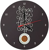 Kayugraphy Jam Dinding Wall Clock Love You More Than Coffee 30x30 cm JB136