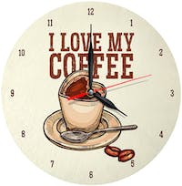 Kayugraphy Jam Dinding Wall Clock Love My Coffee 30x30 cm JB137