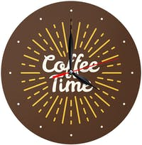 Kayugraphy Jam Dinding Wall Clock Coffee Time 30x30 cm JB139
