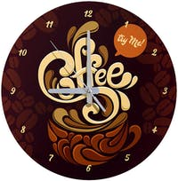 Kayugraphy Jam Dinding Wall Clock Try Me Coffee 30x30 cm JB140