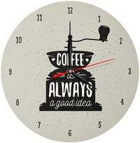 Kayugraphy Jam Dinding Wall Clock Coffee Is Good Idea 30x30 cm JB141