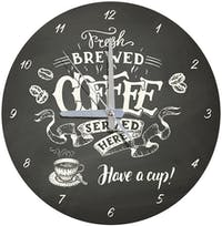 Kayugraphy Jam Dinding Wall Clock Fresh Brewed 30x30 cm JB142