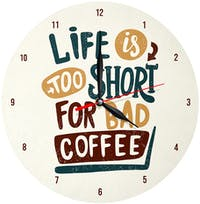 Kayugraphy Jam Dinding Wall Clock Coffee 30x30 cm JB144