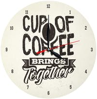 Kayugraphy Jam Dinding Wall Clock Cup Of Coffee 30x30 cm JB145