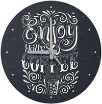 Kayugraphy Jam Dinding Wall Clock Enjoy Your Coffee 30x30 cm JB147