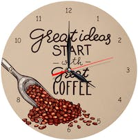 Kayugraphy Jam Dinding Wall Clock Great Coffee 30x30 cm JB148