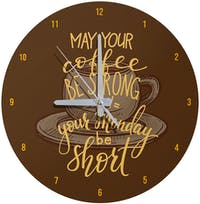 Kayugraphy Jam Dinding Wall Clock Strong Coffee 30x30 cm JB149