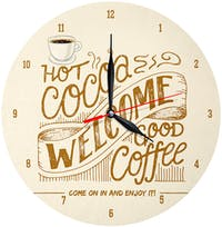 Kayugraphy Jam Dinding Wall Clock Welcome And Enjoy 30x30 cm JB150