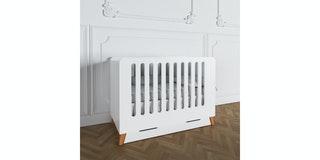 Luniklo Chamallow White Baby Bed - Long