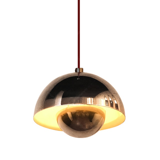 Lightology Chandelier / Lampu Gantung MD 8779/1 Chrome +WH