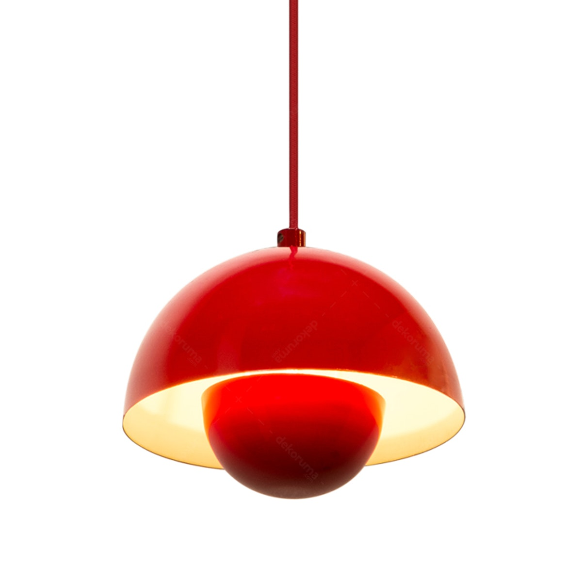 Lightology Chandelier / Lampu Gantung MD 8779/1 Red + WH