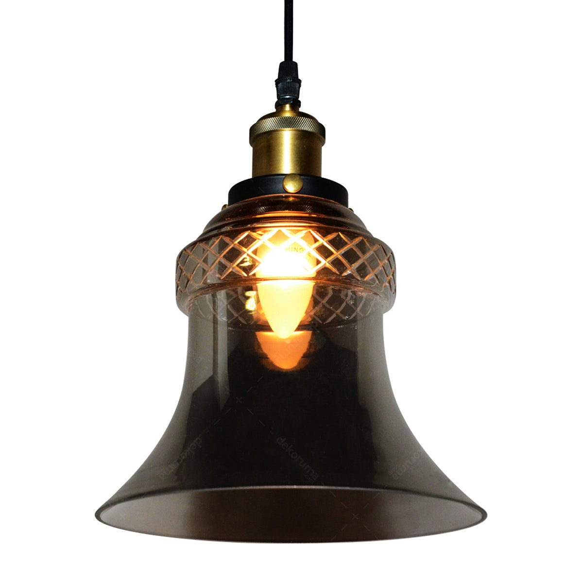 Lightology Chandelier / Lampu Gantung 8048-1 SMOKE GREY